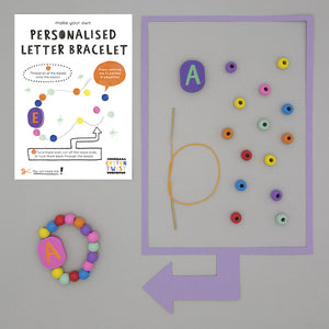 Make Your Own Personalised Letter Bracelet Kit - Cotton Twist