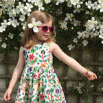 Amelie Dress in Parrot Print - JABAKids