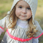 Little Grey Flowers and Neon Pink Dress - JuniperBerry Kids