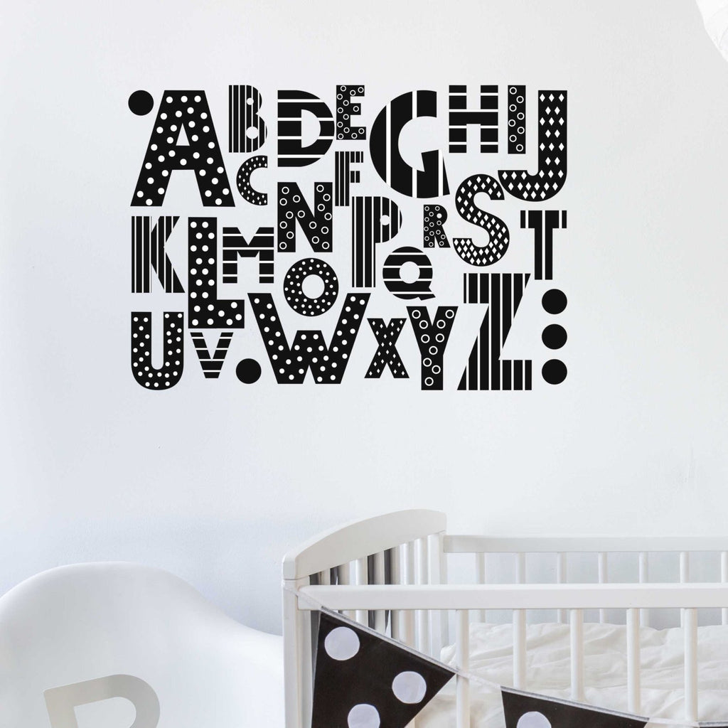 Alphabet Wall Sticker - Nutmeg Studio