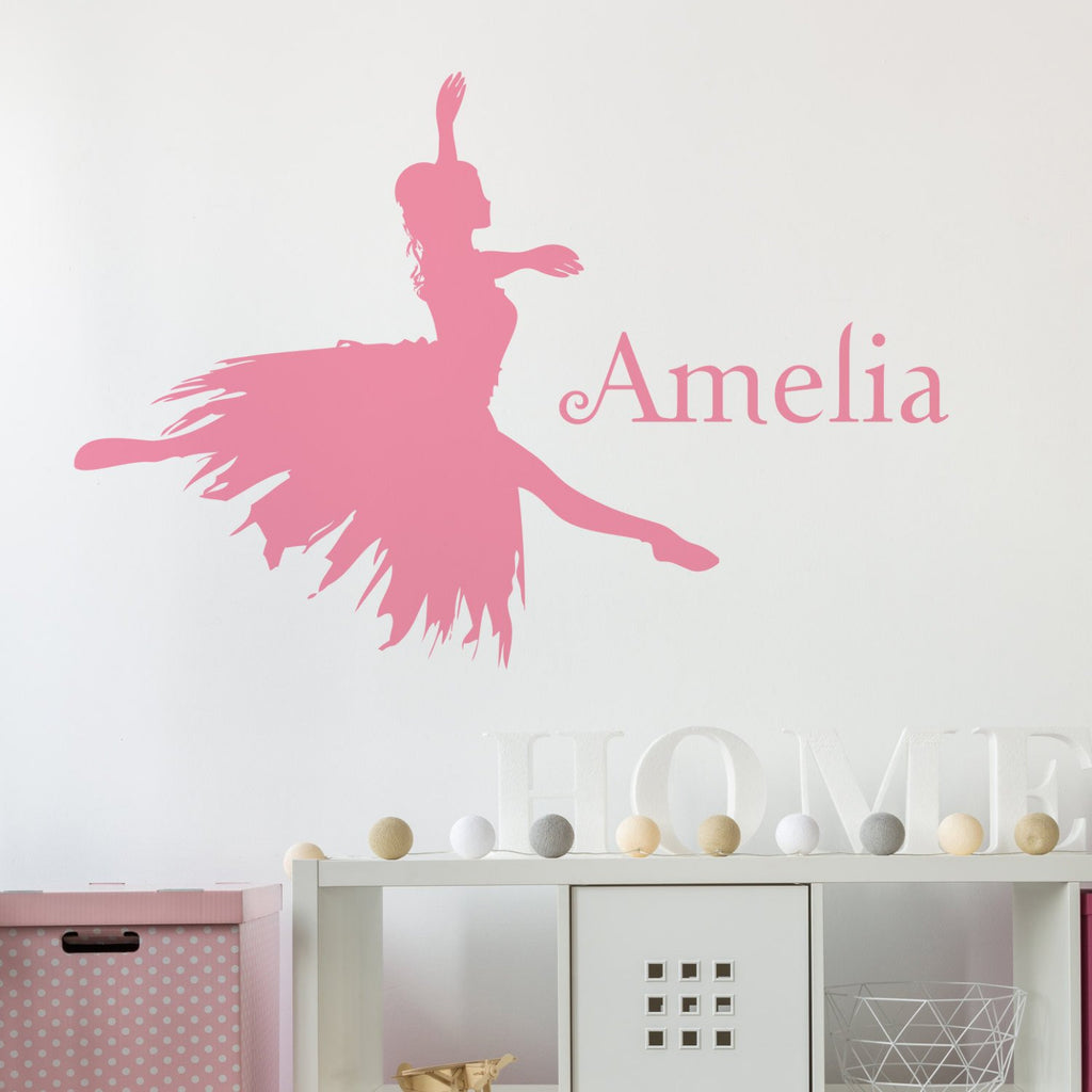 Ballerina Name Wall Sticker - Nutmeg Studio