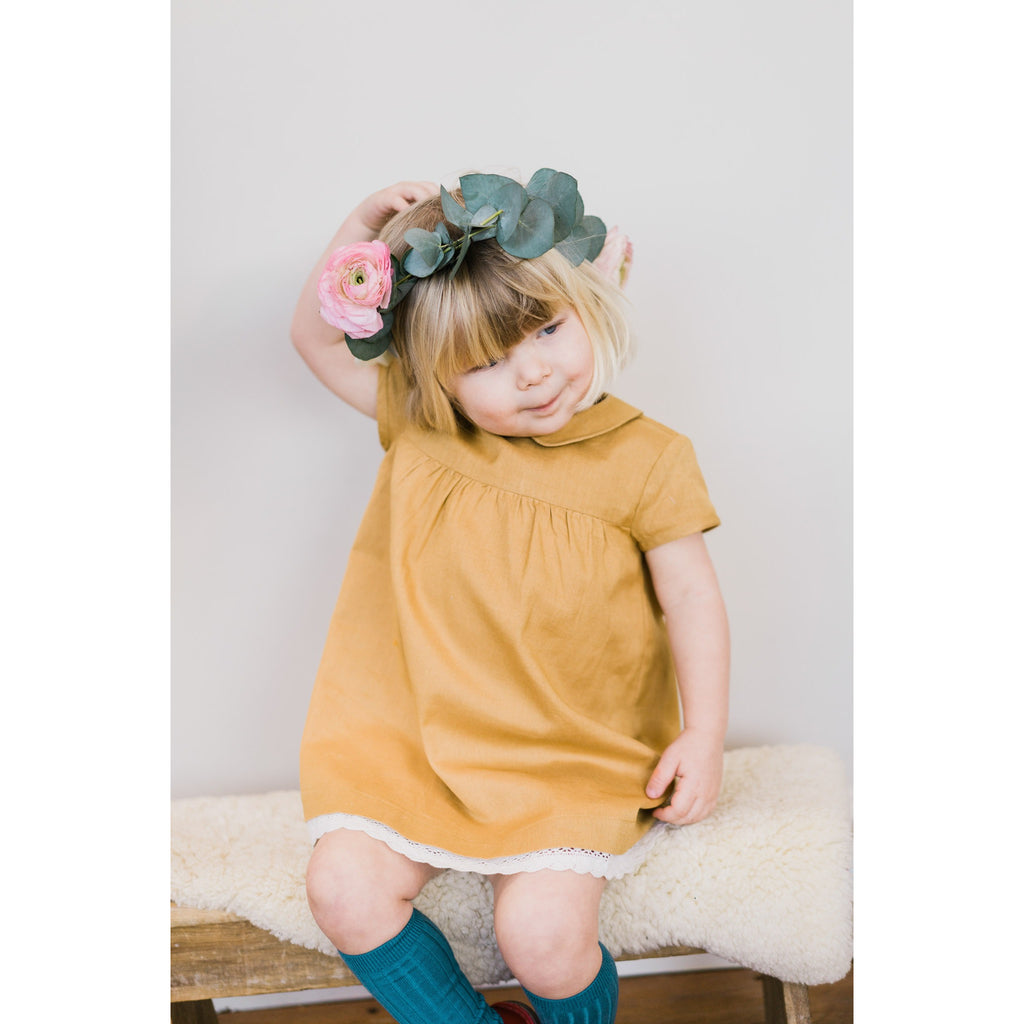 Amelie dress mustard - Little Cotton Clothes