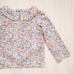'Pearl' Girls Long Sleeve Liberty Print Blouse - The Handmade Clothing Company