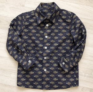 'Louie' Boys Liberty Print Long Sleeve Shirt - The Handmade Clothing Company