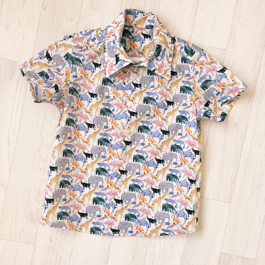 'Benjamin' Boys Liberty Print Short Sleeve Shirt - The Handmade Clothing Company