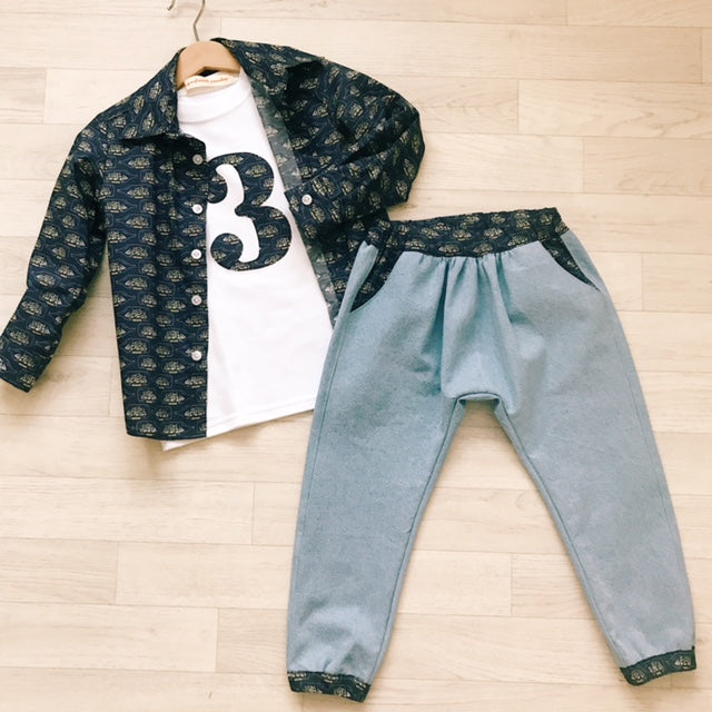 'Seth' Liberty Print Boys Slouch Jean - The Handmade Clothing Company