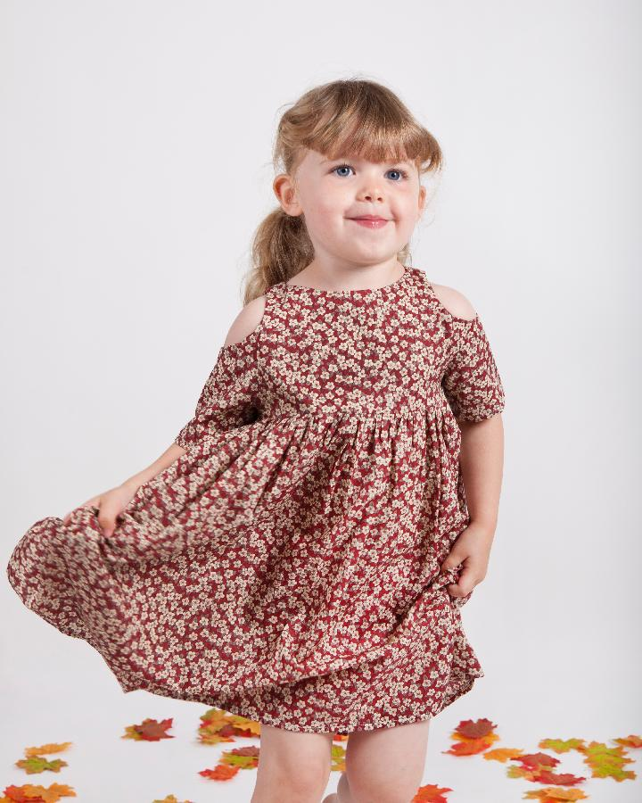 'Cleo' Girls Liberty Print Cut Out Dress - The Handmade Clothing Company