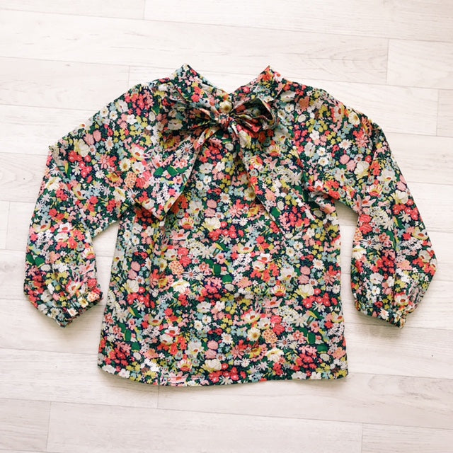 'Olive' Liberty Print Pussy Bow Blouse - The Handmade Clothing Company