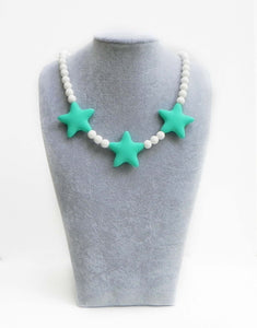 Children's Star Necklace in Blue Tropical Surf - Halia Rose