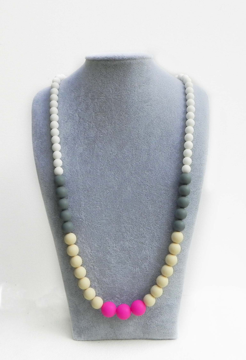 Bola Teething Necklace in Orchid - Halia Rose