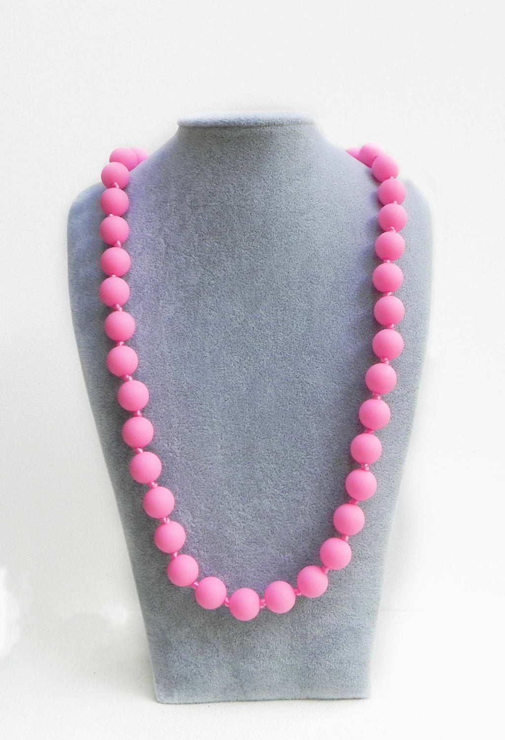 Bola Teething Necklace in Rose - Halia Rose
