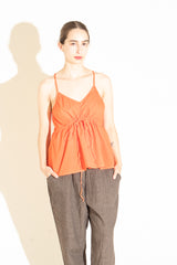 Manuelle Guibal String Top in Poppy