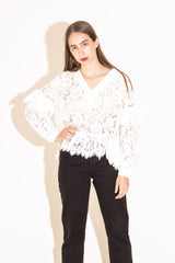 Ganni Jerome Lace Top