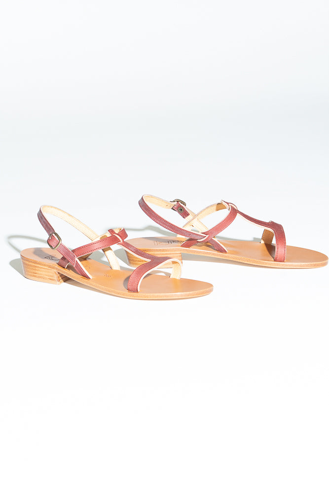 K. Jacques Elina Sandal in Bordeaux