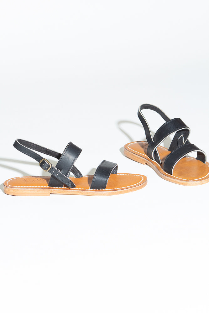 K. Jacques Barigoule Sandal in Black