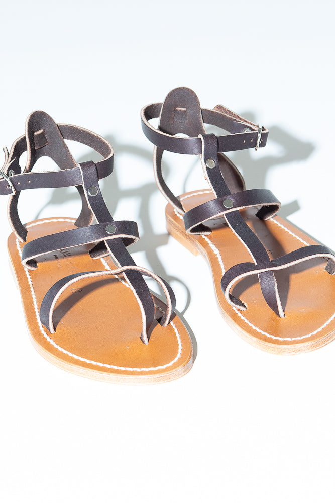 K. Jacques Antioche Sandal in Cafe