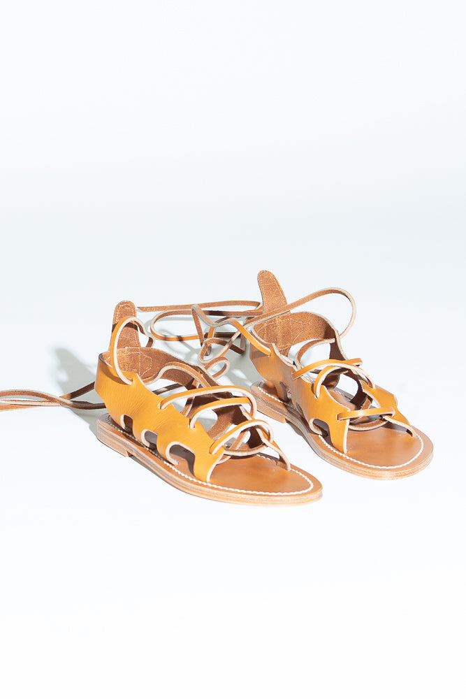 K. Jacques x Duro Olowu Janus Sandal in Natural