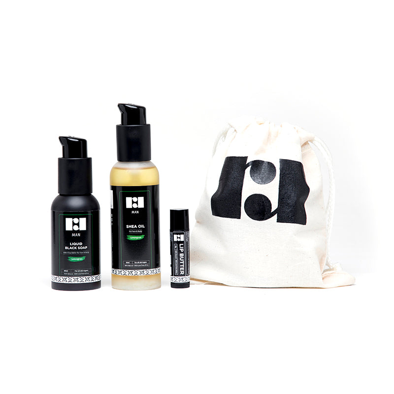 Men's Travel Kit - Lemongrass (Revive)
