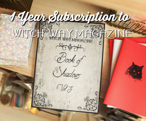 1 Year Printed Subscription to Witch Way Magazine