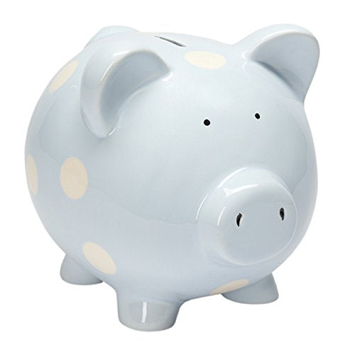 Ceramic Piggy Bank | Blue - The Yellow Canary