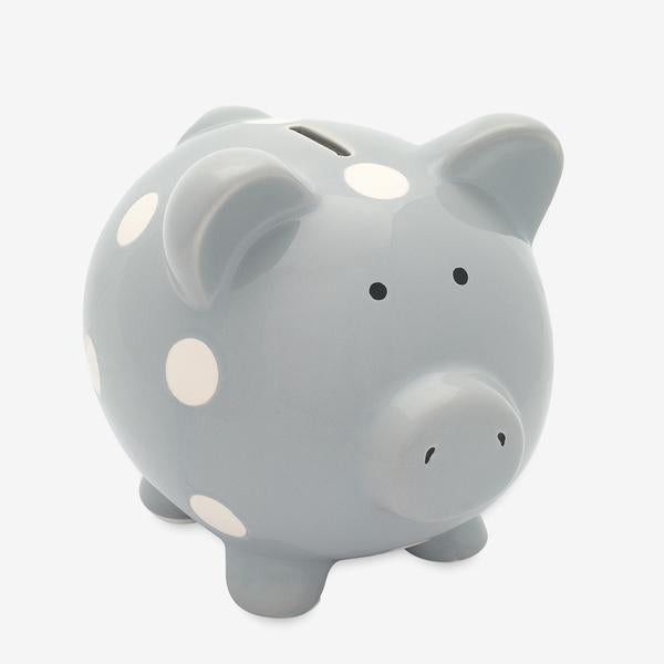 Ceramic Piggy Bank | Gray - The Yellow Canary