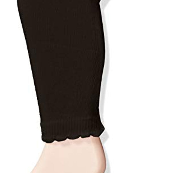 Scalloped Footless Leggings | Black