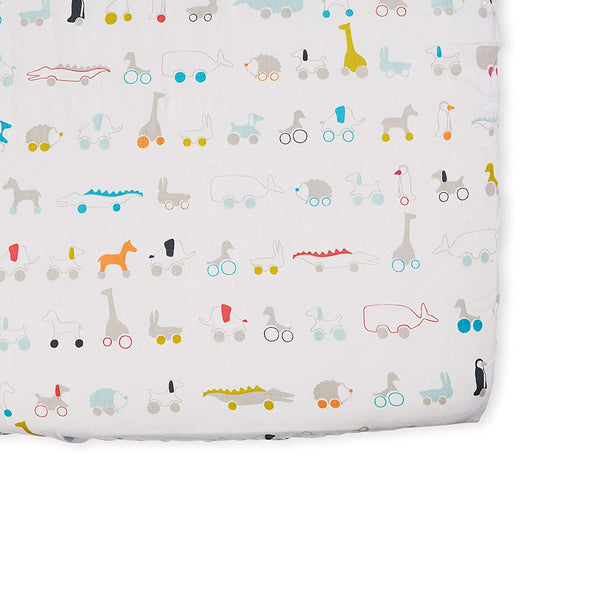 Pull Toys Crib Sheet - The Yellow Canary