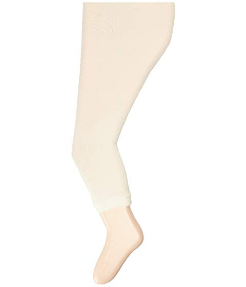 Scalloped Footless Leggings | Ivory - The Yellow Canary