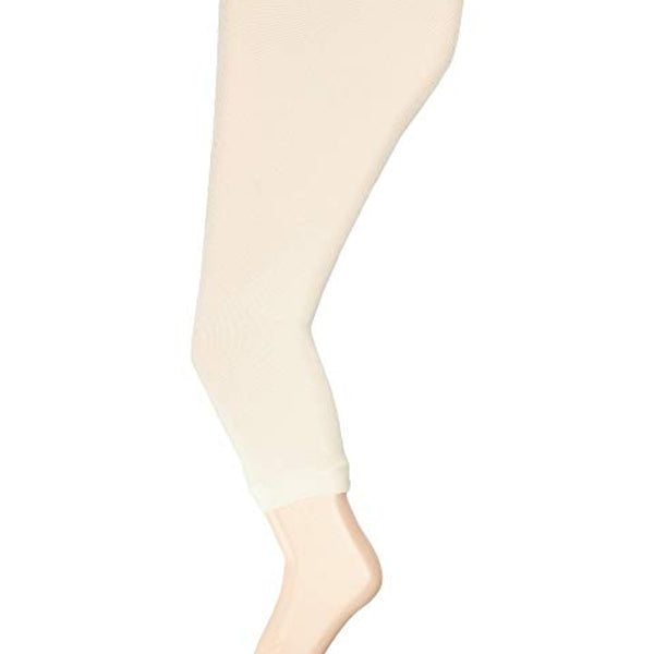 Scalloped Footless Leggings | Ivory