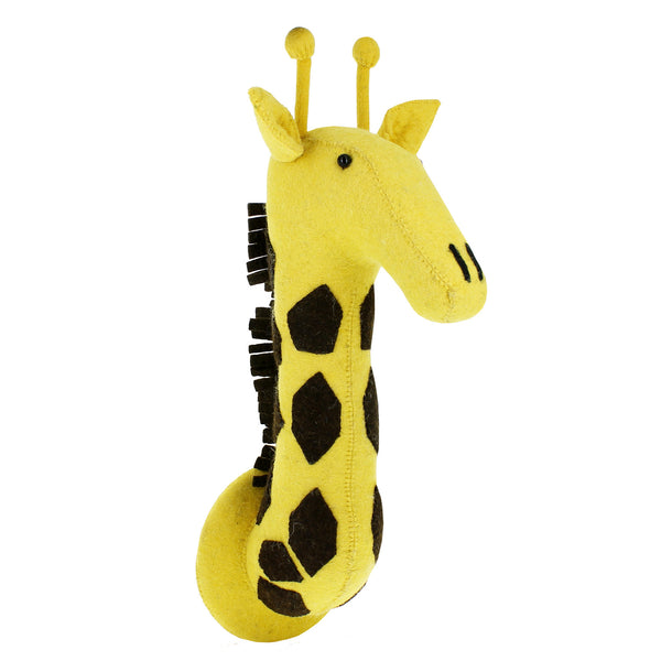 Giraffe Animal Head - The Yellow Canary
