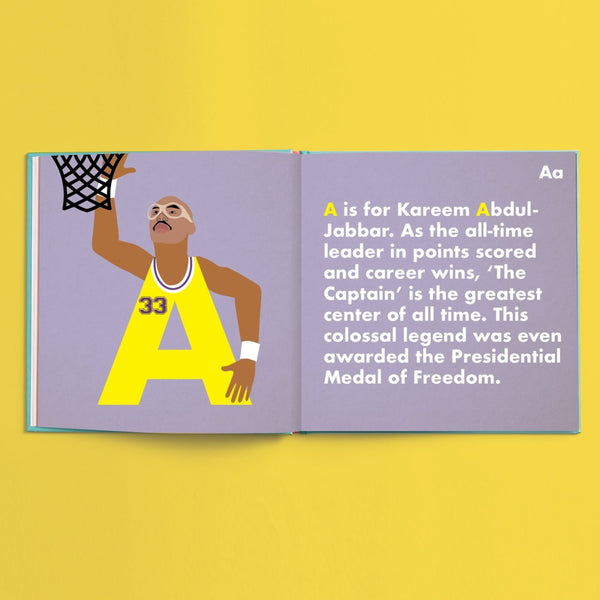 Basketball Legends Alphabet Book - The Yellow Canary