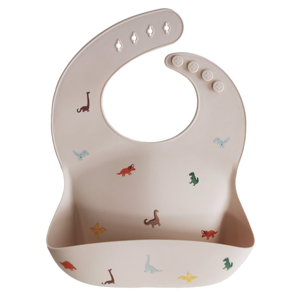 Silicone Baby Bib | Dinosaurs - The Yellow Canary