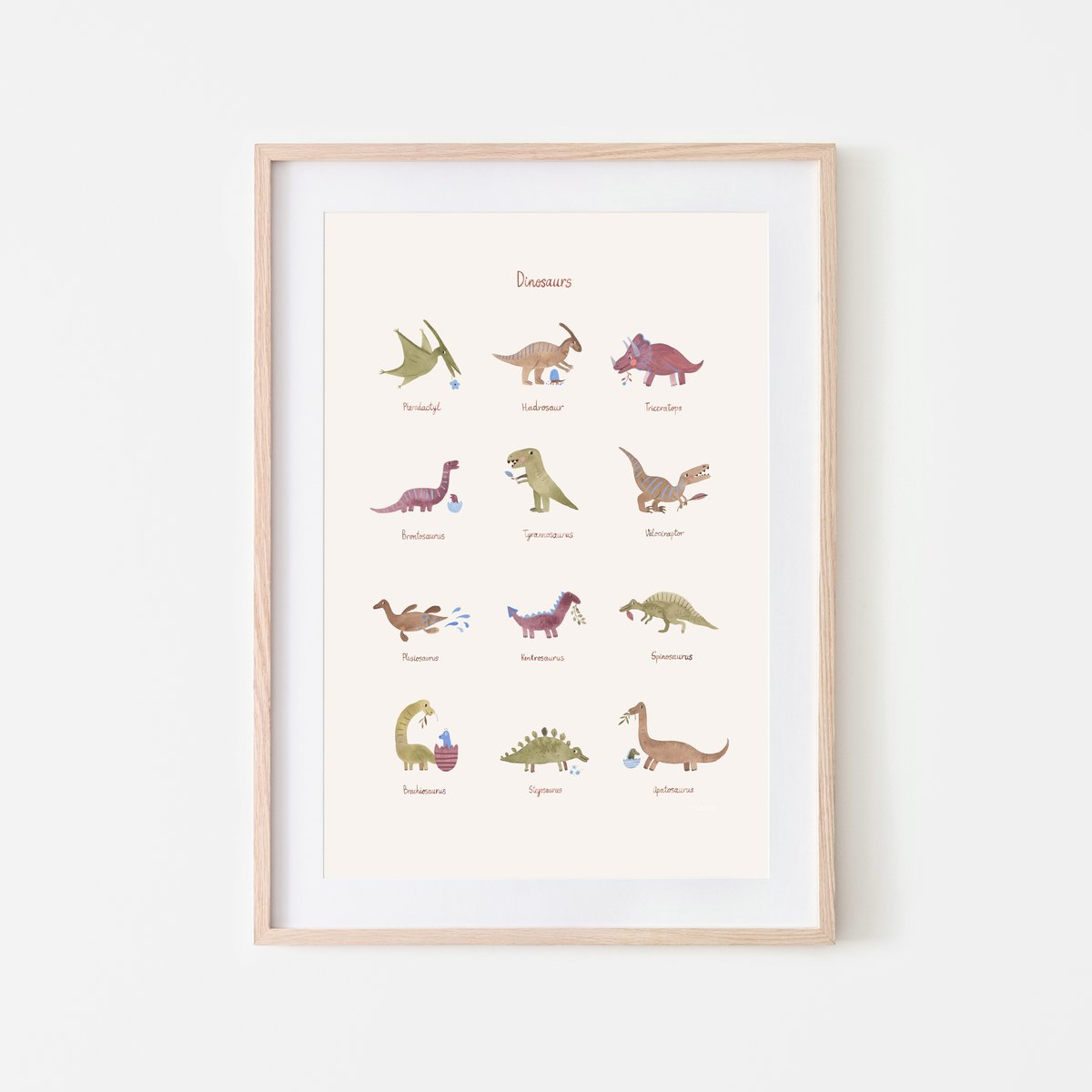 Dinosaur Poster - The Yellow Canary