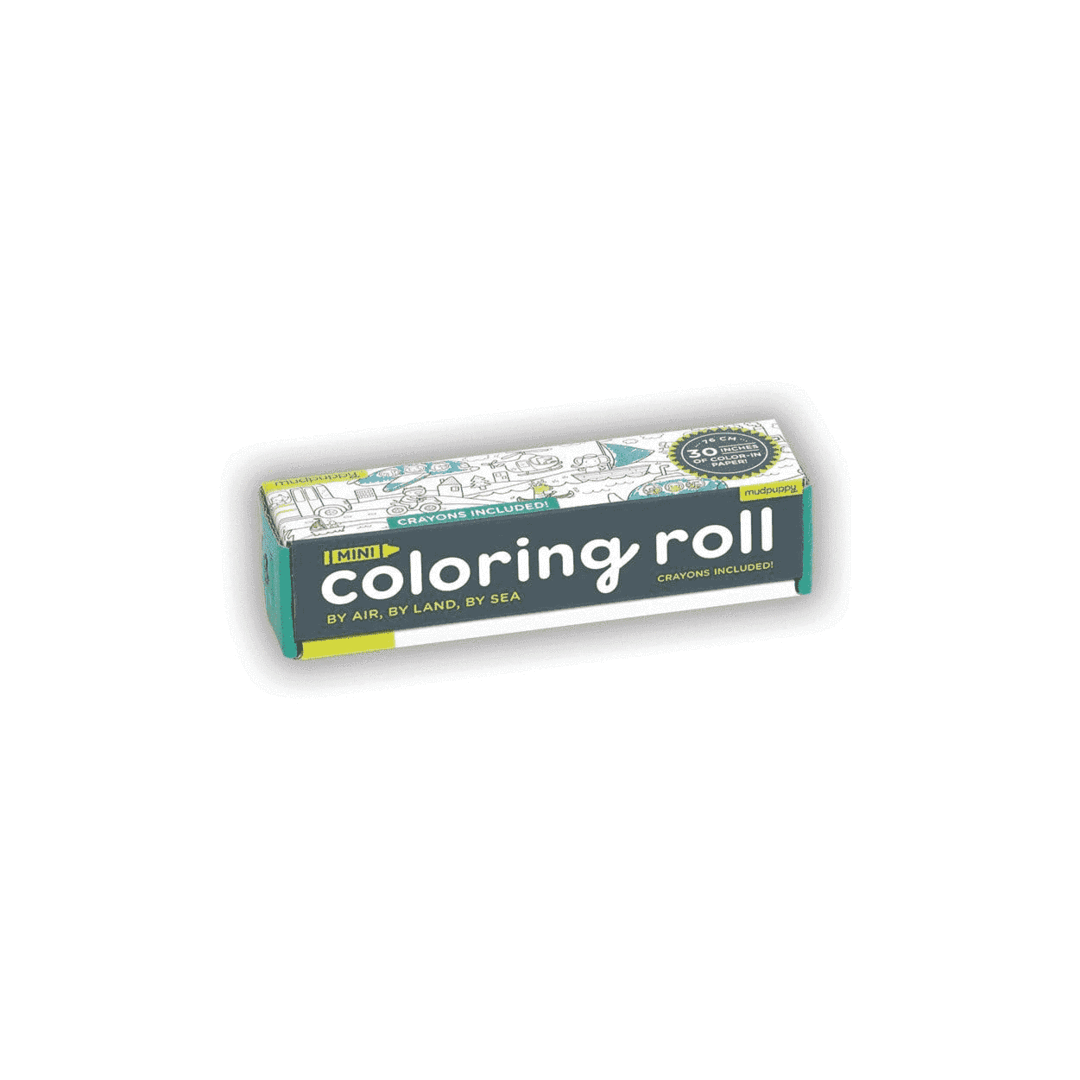 By Air, By Land, By Sea  Mini Coloring Roll - The Yellow Canary
