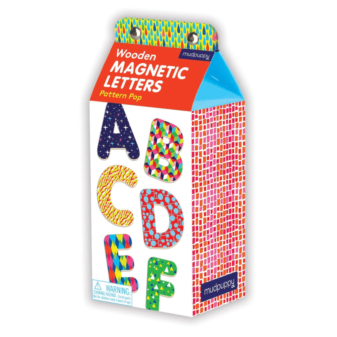 Pattern Pop Wooden Magnetic Letters - The Yellow Canary