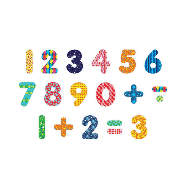 Pattern Pop Wooden Magnetic Numbers - The Yellow Canary