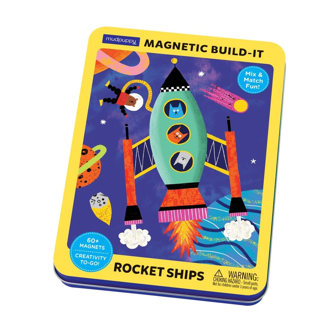 Rocket Ships Magnetic Build-It - The Yellow Canary