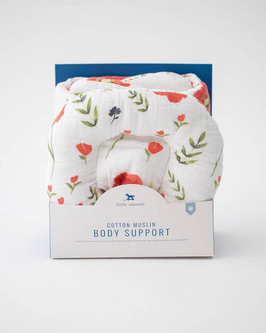 Muslin Body Support | Summer Poppy - The Yellow Canary