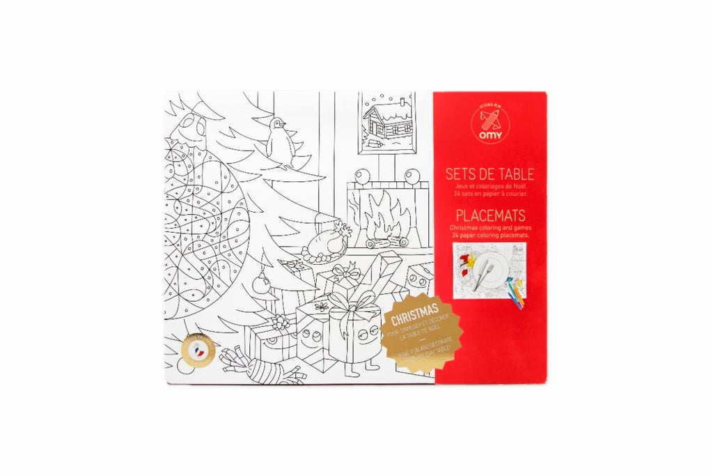 Christmas Coloring Paper Placemats - The Yellow Canary