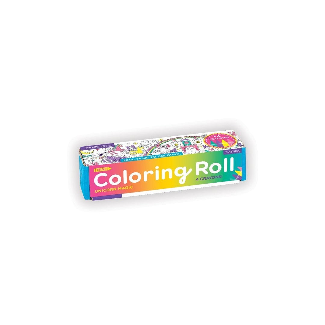 Unicorn Magic Mini Coloring Roll - The Yellow Canary