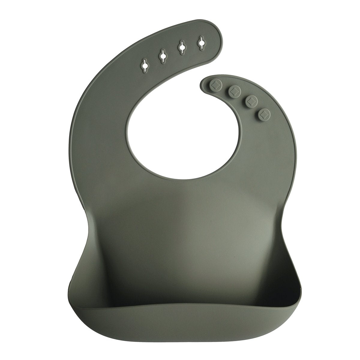 Silicone Bib | Silver Sage - The Yellow Canary