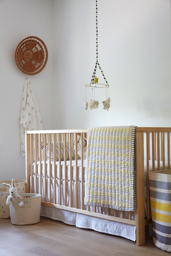 Crib Skirt | White - The Yellow Canary