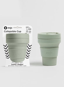 Stojo Collapsible Cup | Sage - The Yellow Canary