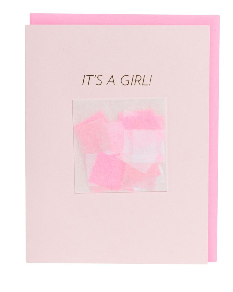 IT'S A GIRL! CONFETTI CARD™