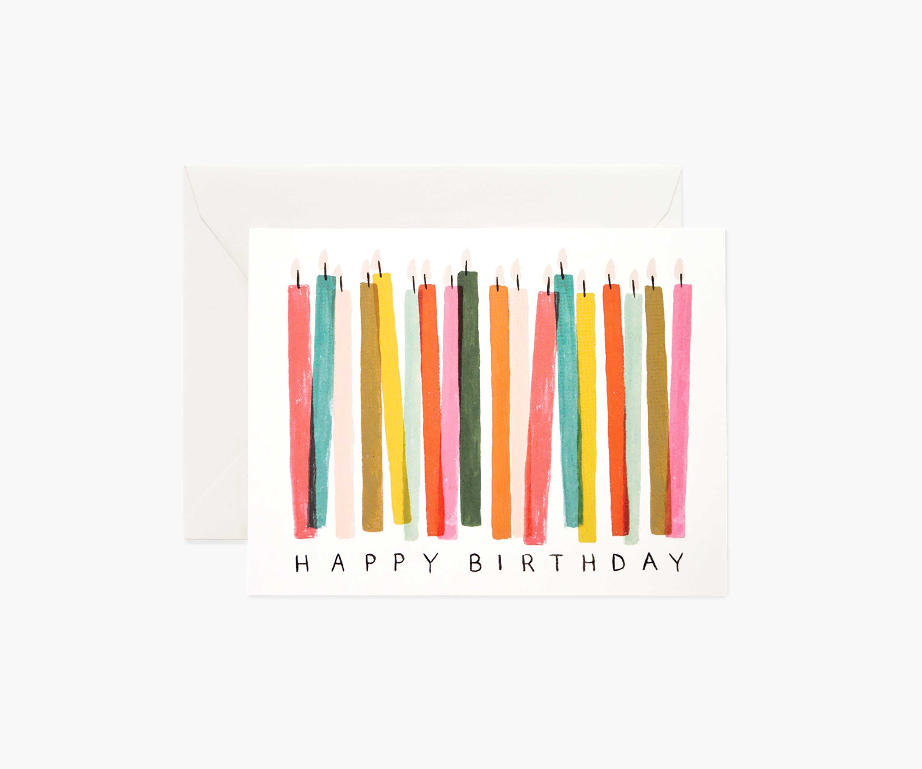 Birthday Candle Card - The Yellow Canary