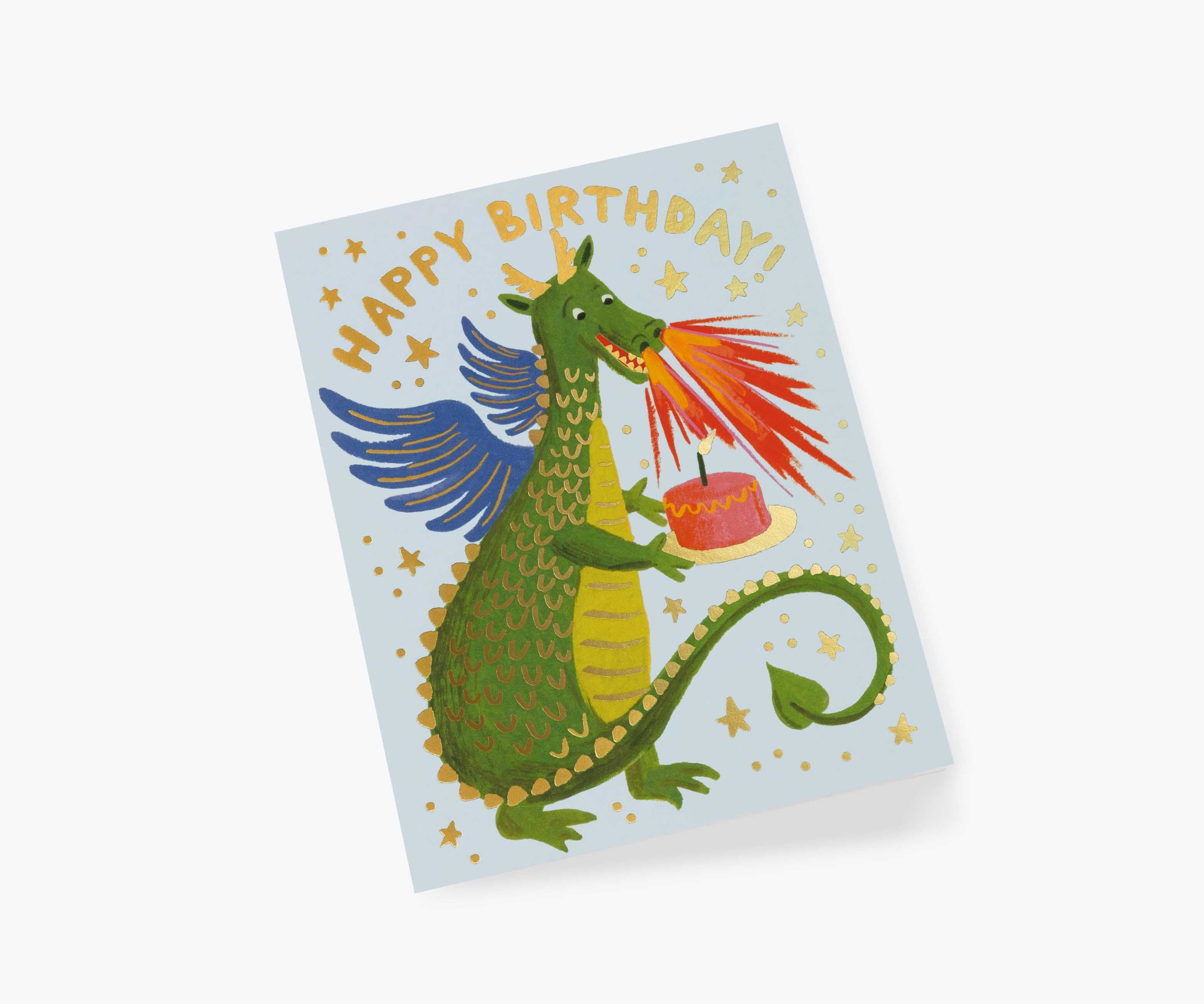 Birthday Dragon Card - The Yellow Canary