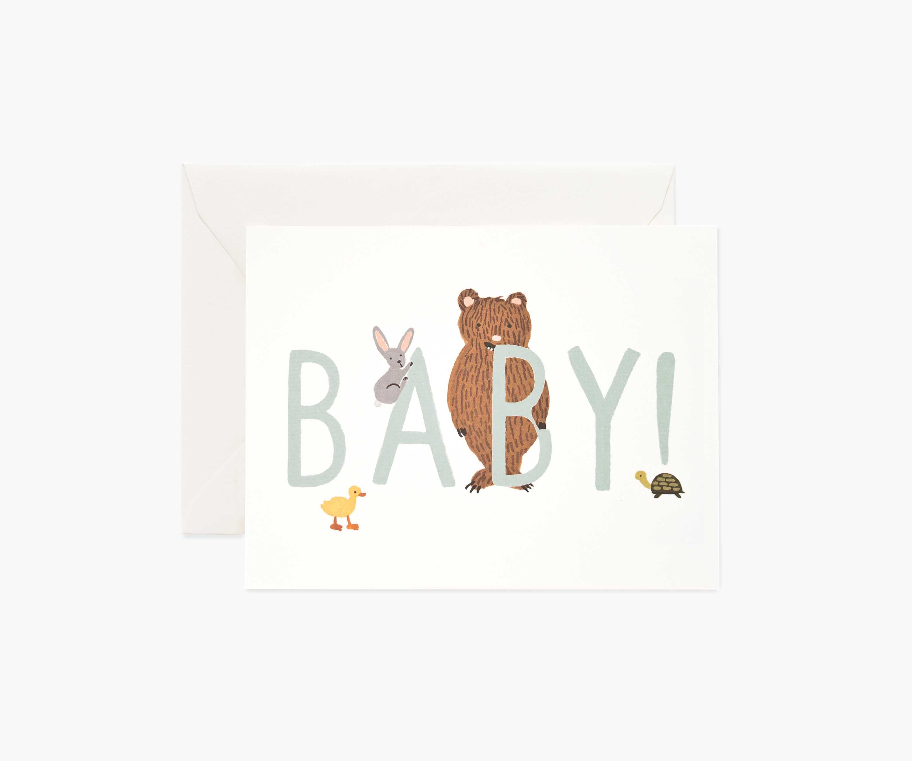 Baby! Card | Mint - The Yellow Canary