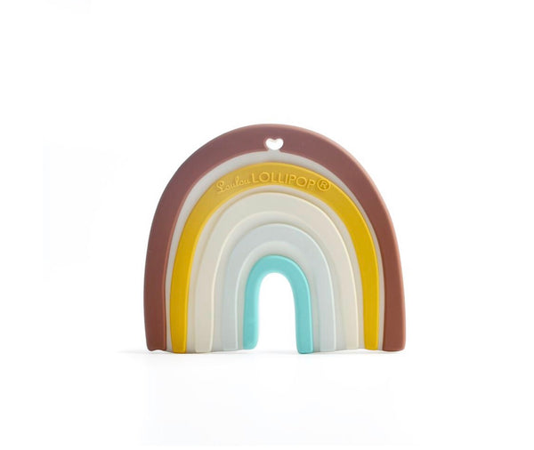 Neutral Rainbow Teether - The Yellow Canary