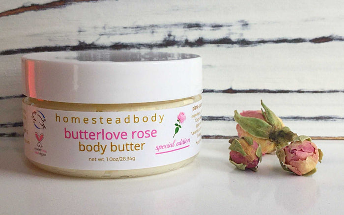 butterlove organic body butter rose