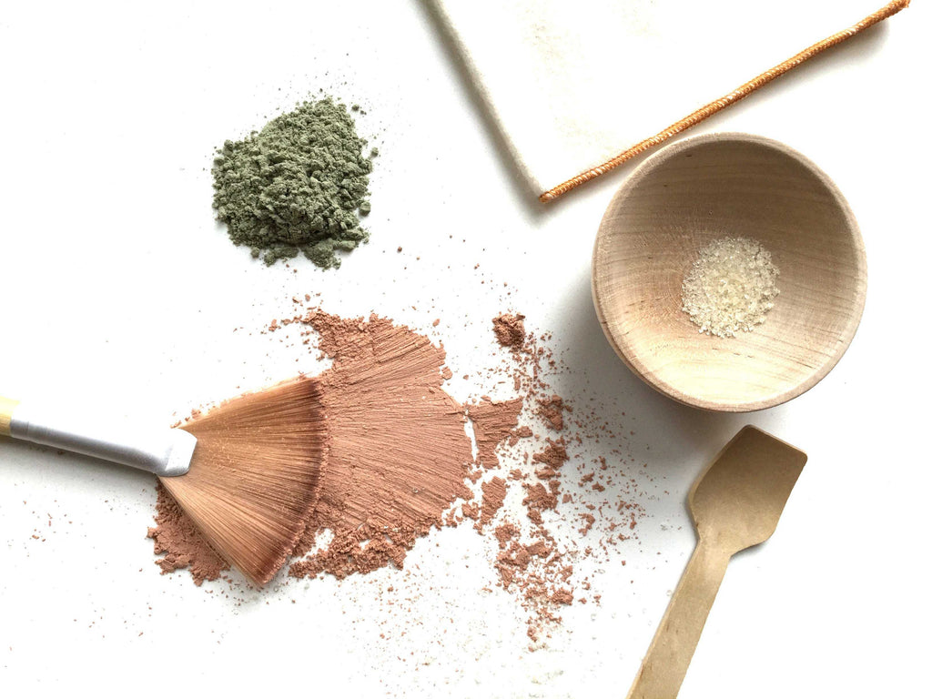french green clay mask - homestead body organic plant-based skincare